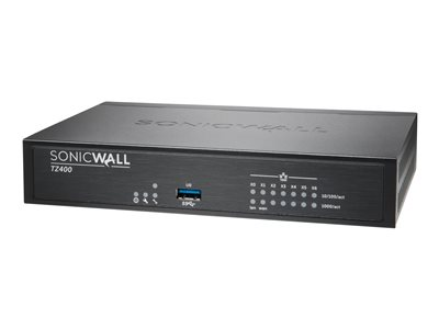 SonicWall TZ400 Security appliance with 1 year TotalSecure 7 ports GigE