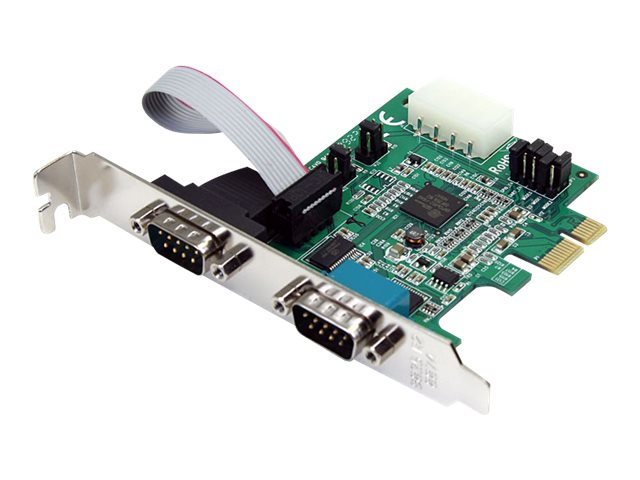 DB9 Replacement for PARTS-PEX2S1050 ADD Two RS232 Serial Ports to Your Low OR Full-Profile Computer Through A