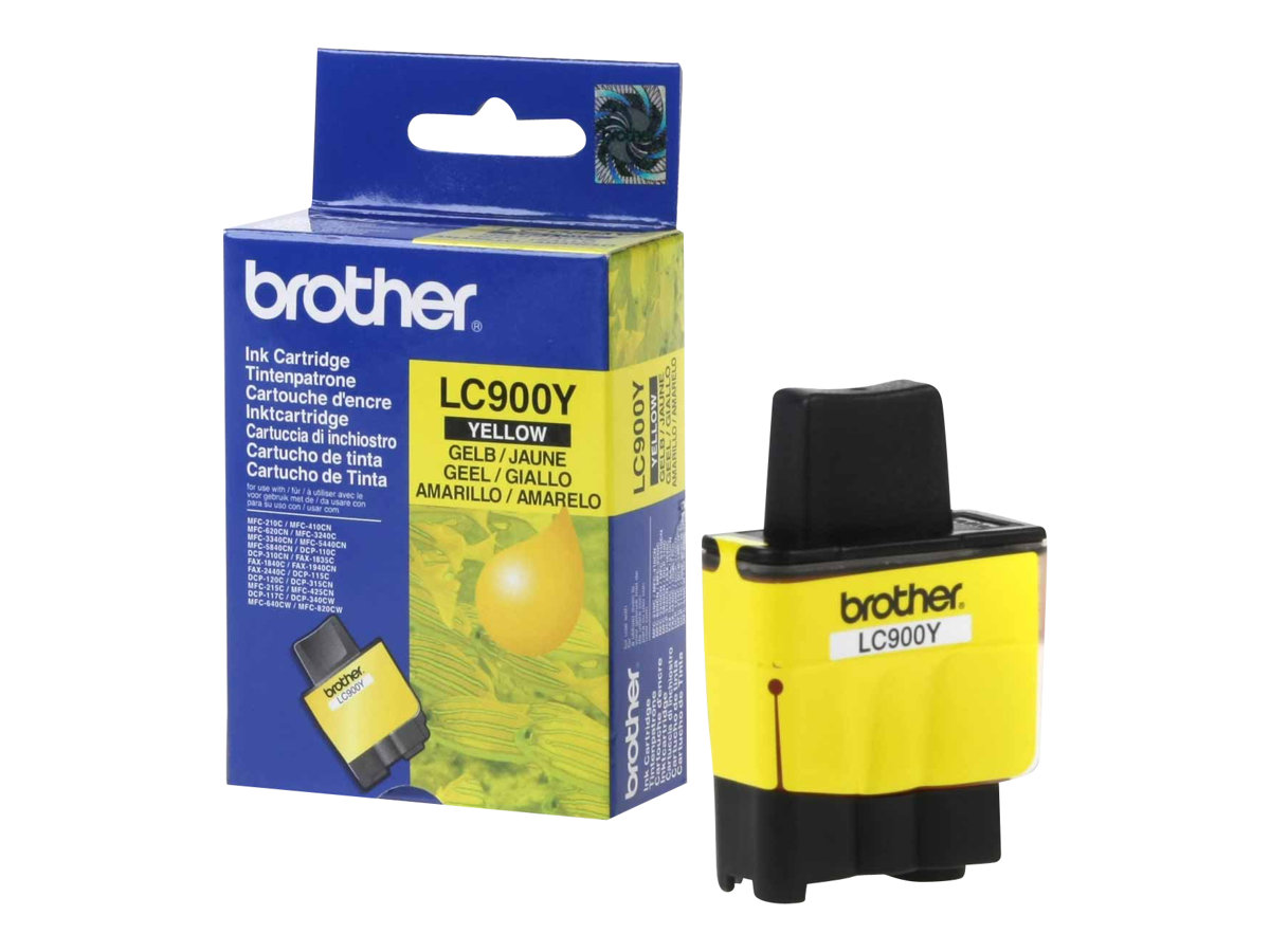 Brother LC900Y - Gelb - Original - Tintenpatrone - für Brother DCP-115, 117, 120, 315, 340, MFC-210, 215, 3240, 3340, 410, 425, 5440, 640, 820