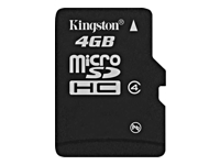 Kingston - Carte memoire flash (adaptateur microSDHC - SD inclus(e)) - 4 Go - Class 4 - microSDHC