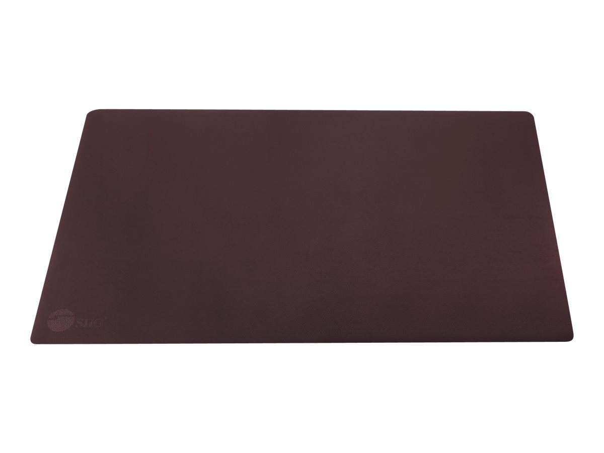 SIIG Large Artificial Leather Smooth Desk Mat Protector - keyboard and mouse pad