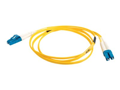 C2G 6m LC-LC 9/125 Duplex Single Mode OS2 Fiber Cable TAA Yellow 20ft Patch cable