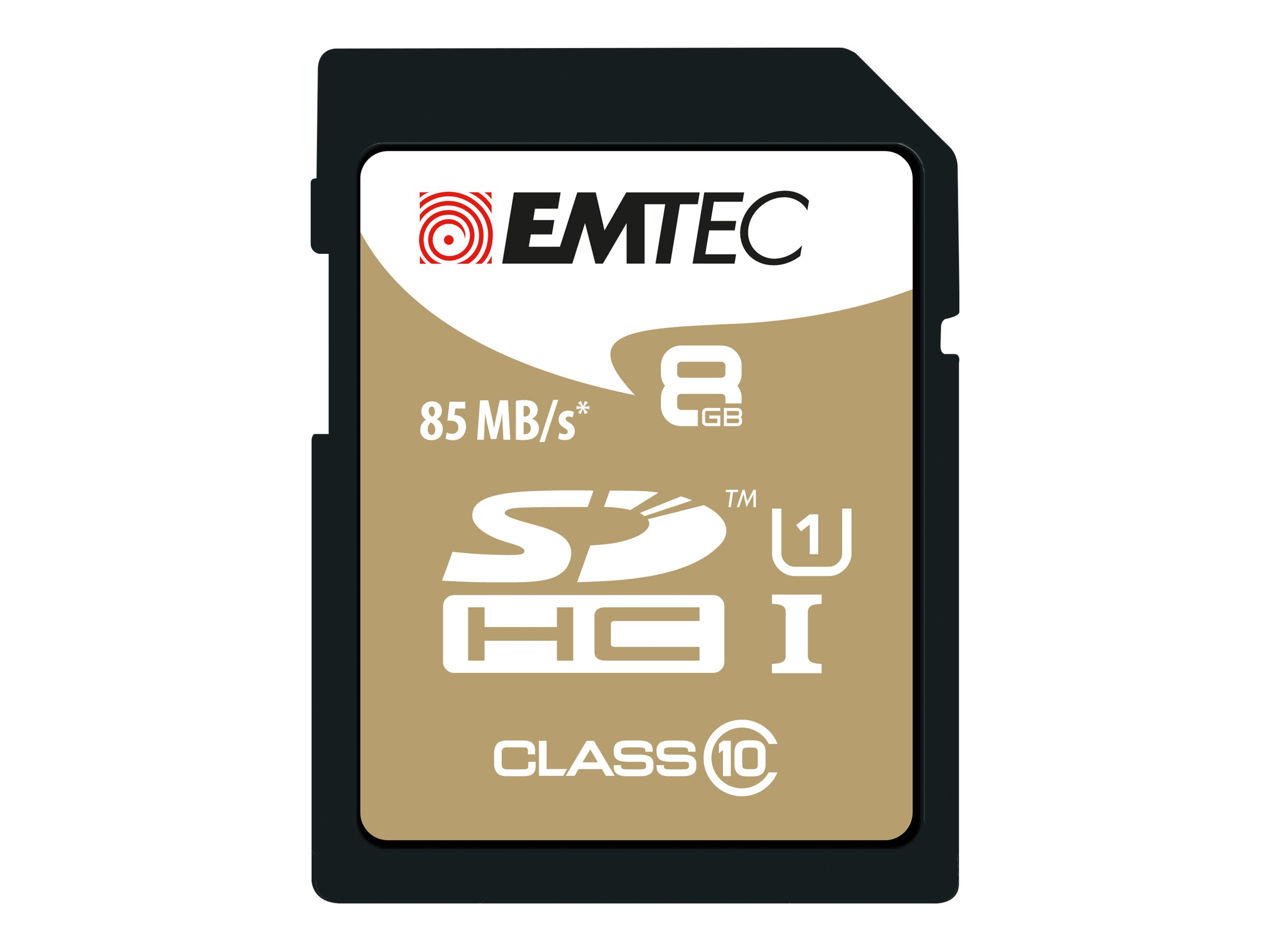 EMTEC Gold+ - Flash-Speicherkarte - 8 GB - Class 10 - SDHC - Gold