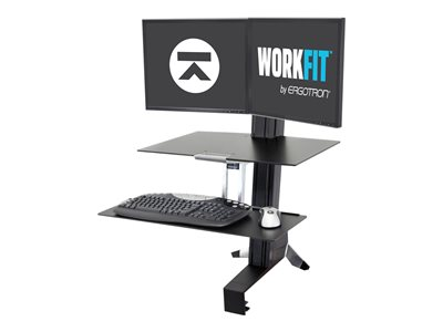 Ergotron WorkFit-S Dual Workstation with Worksurface Standing Desk