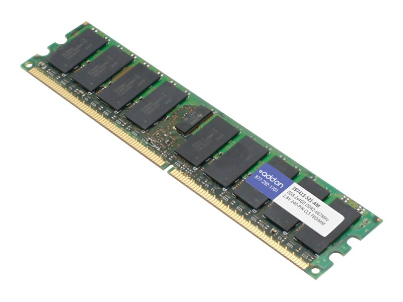 AddOn 8GB Factory Original FBDIMM for HP 397415-S21 - DDR2 - 8 GB: 2 x 4 GB - FB-DIMM 240-pin - fully buffered