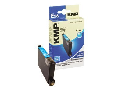 KMP E98 - 8 ml - Cyan - Tintenpatrone (Alternative zu: Epson T0612) - für Epson Stylus D68 Photo Edition, D88 Photo Edition, DX3800, DX3850, DX4200, DX4800, DX4850