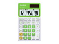Casio SL-300VC Pocket calculator 8 digits solar panel, battery baby leaf gr