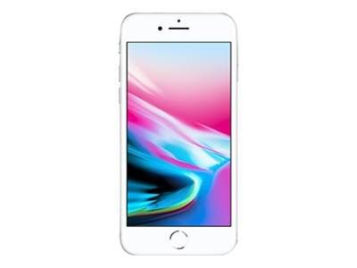 "Apple iPhone 8 - Smartphone - 4G LTE Advanced - 64 GB - GSM - 4.7"" - 1334 x 750 pixels (326 ppi) - Retina HD - 12 MP (7 MP front camera) - silver"