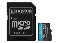 Kingston Canvas Go! Plus - Flash-Speicherkarte (microSDXC-an-SD-Adapter inbegriffen)