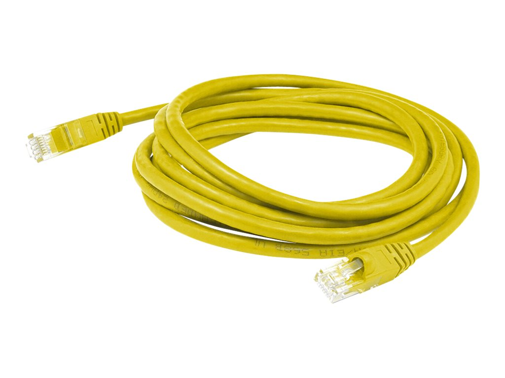 AddOn 14ft RJ-45 Cat6 Black Patch Cable - patch cable - 4.27 m - yellow