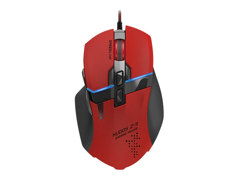 SPEEDLINK Kudos Gaming Mouse Z-9 - mus - USB - röd