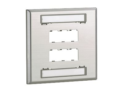 Panduit MINI-COM Stainless Steel Faceplate - faceplate