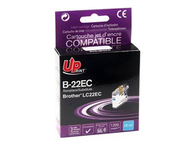 compatibles Brother  Brother LC22E - compatible UPrint B.22EC - cyan - cartouche d'encre