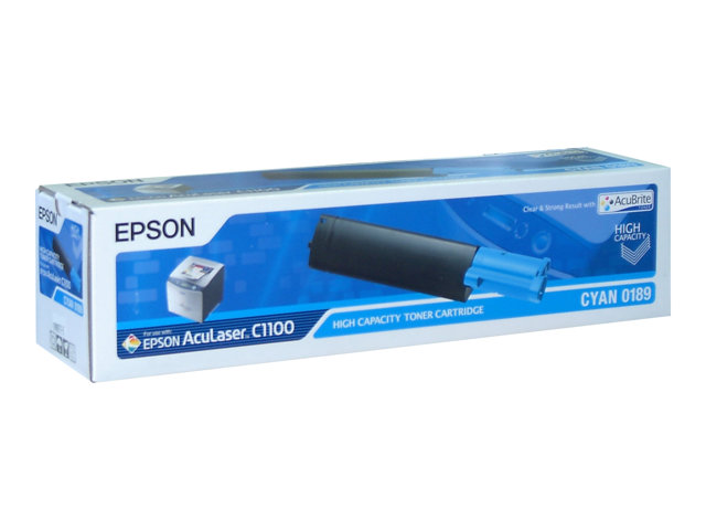 Image of Epson 0189 - high capacity - cyan - original - toner cartridge