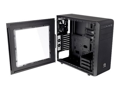 Mid tower - ATX - no power supply ( PS/2 ) - black - USB/Audio