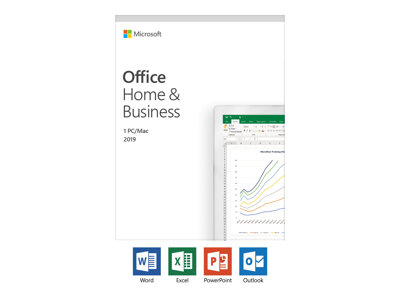 MS Office Home and Business 2019 English EuroZone Medialess Win10 Mac Danish