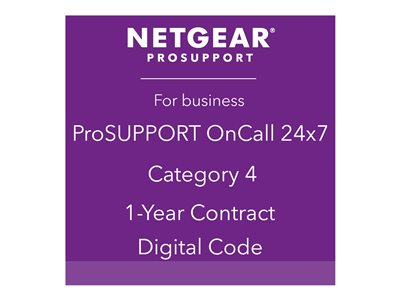 NETGEAR ProSupport OnCall 24x7 Category 4 Technical support phone consulting 1 year 24