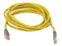 Belkin Crossover cable RJ-45 (M) to RJ-45 (M) 10 ft CAT 5e molded yellow