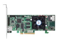 Areca 4 port 6Gb/s SAS PCIe x8 RAID Card, 1GB Cache, 1x intern SFF-8087, LP