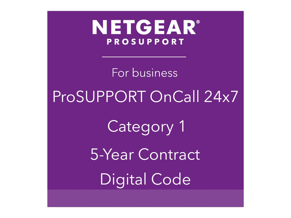 NETGEAR ProSupport OnCall 24x7 Category 1 - technical support - 5 years