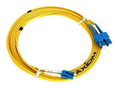 Axiom SC-SC Singlemode Duplex OS2 9/125 Fiber Optic Cable - 3m - Yellow - network cable - 3 m