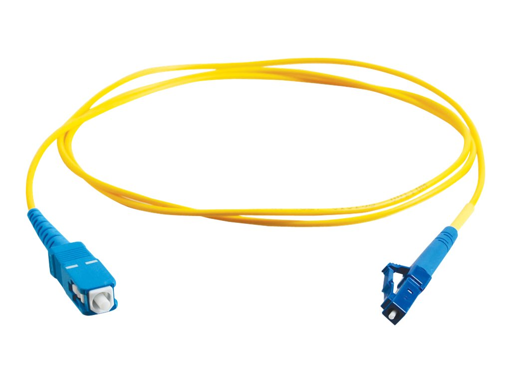 C2G 3m LC-SC 9/125 Simplex Single Mode OS2 Fiber Cable - Plenum CMP-Rated - Yellow - 10ft - patch cable - 3 m - yellow