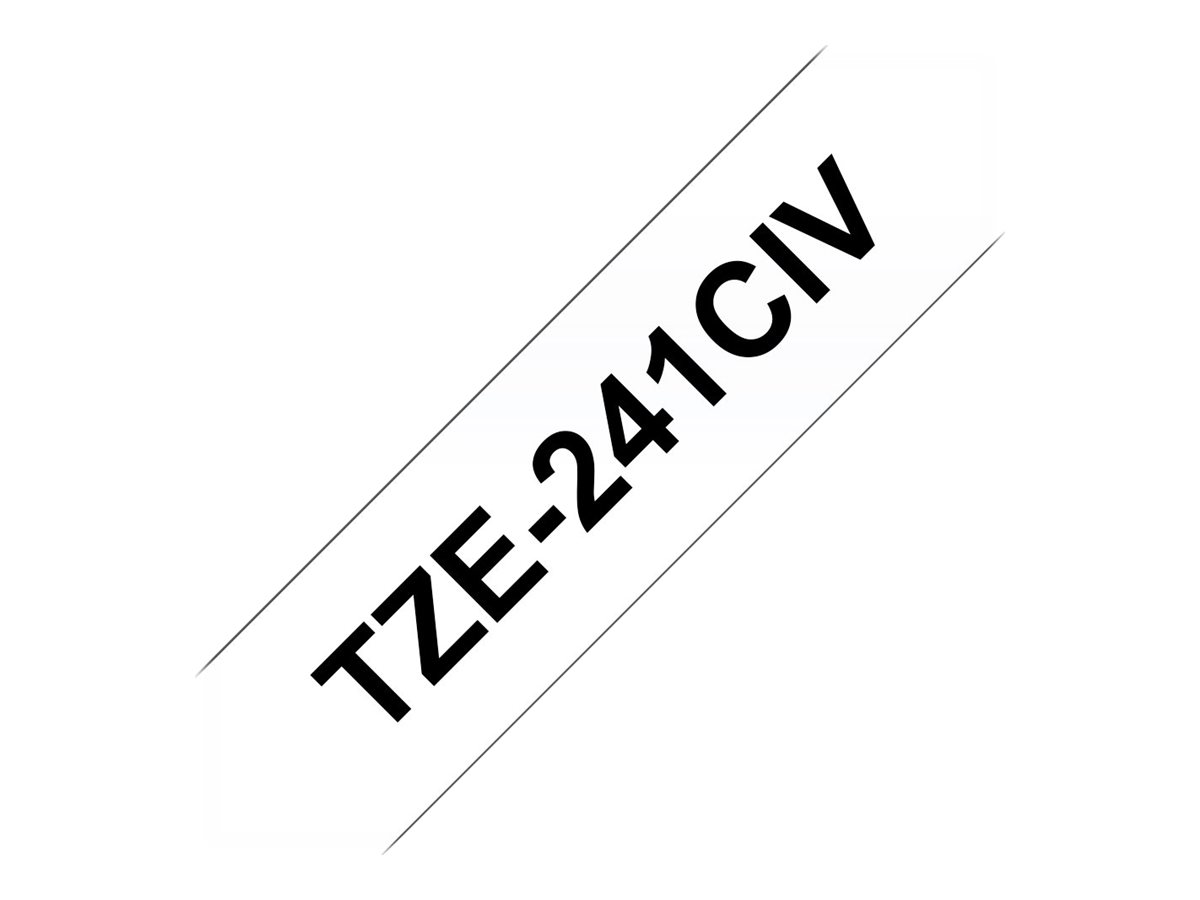 BROTHER P-Touch TZE-241CIV weiss...