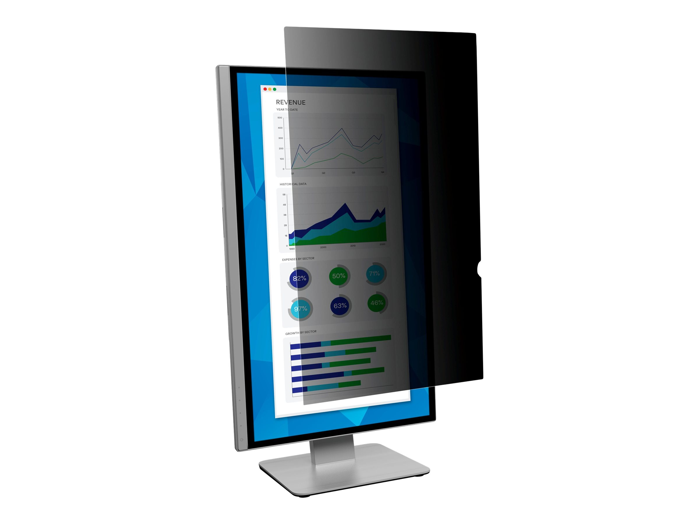 "3M Privacy Filter for 25"" Widescreen Monitor - display privacy filter - 25"" wide"