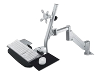 ROLINE - Mounting kit (articulating arm, support tray, interface plate, desk clamp mount, wrist rest) for LCD display / keyboard / mouse