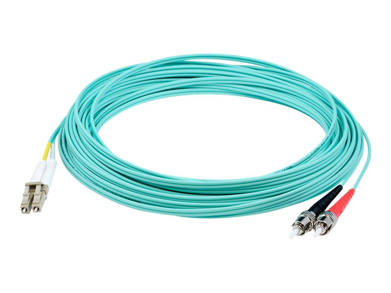 AddOn 20m LC to ST OM4 Aqua Patch Cable - patch cable - 20 m - aqua