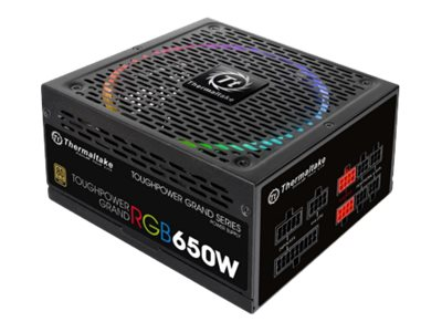 Thermaltake ToughPower Grand RGB TPG-650AH3FSG-R - Stromversorgung (intern) - ATX12V 2.4/ EPS12V 2.92 - 80 PLUS Gold - Wechselstrom 100-240 V - 650 Watt