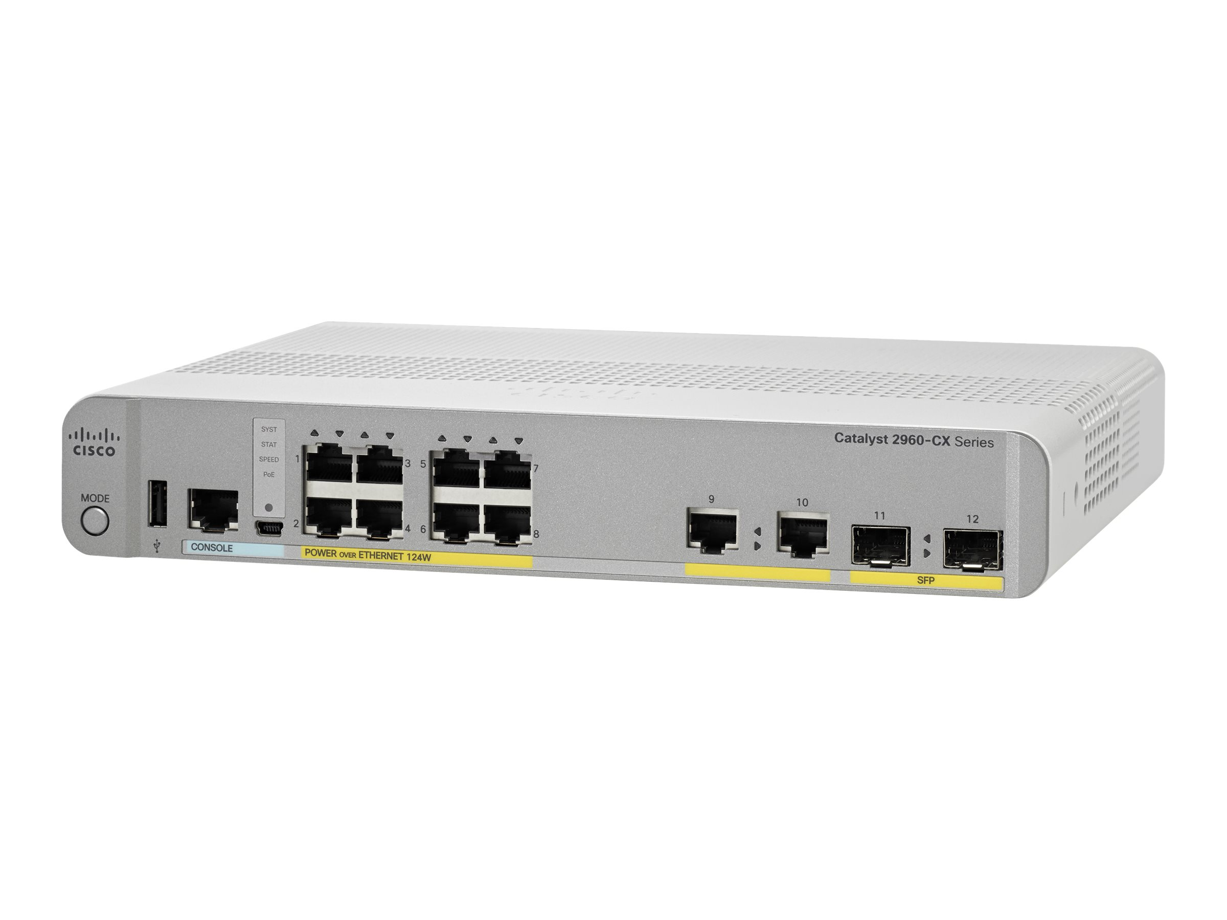 Cisco Catalyst 2960CX-8PC-L - switch - 8 ports - managed - rack-mountable