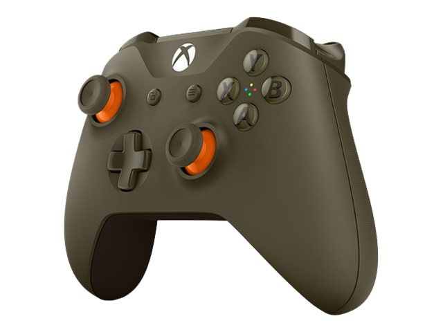 Microsoft Xbox Wireless Controller - Game Pad - drahtlos - Bluetooth - orange, Military Green - für PC, Microsoft Xbox One, Microsoft Xbox One S