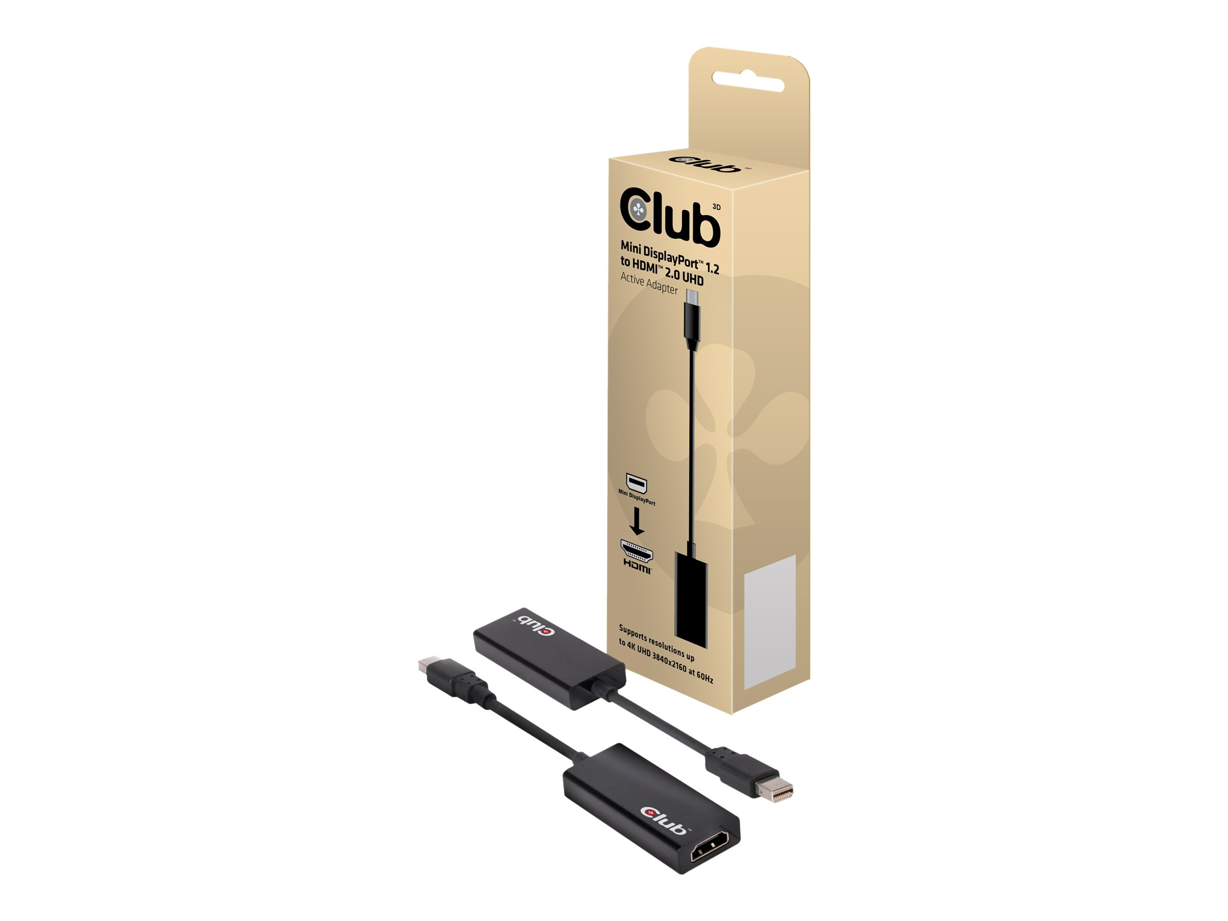 Club 3D - Videoanschluß - DisplayPort / HDMI - Mini DisplayPort (M) bis HDMI (W)