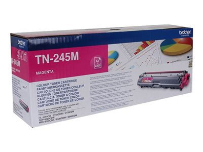 Brother TN 245M Magenta 2200 sider