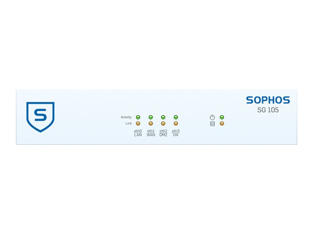 Sophos SG 105w - security appliance - with 2 years TotalProtect