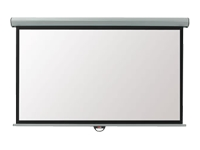 Metroplan Eyeline Manual Wall Screen - Projection screen - ceiling mountable, wall mountable - 16:9 - Matte White - cool white