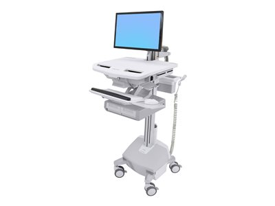 Ergotron StyleView Electric Lift Cart with LCD Arm, LiFe Powered, 2 Drawers (2x1)