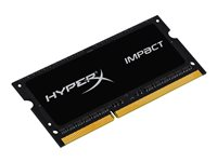 HyperX Impact Black Series - DDR3L - 4 Go - SO DIMM 204 broches - 1600 MHz / PC3L-12800 - CL9 - 1.35 / 1.5 V - mémoire sans tampon - non ECC