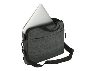 Incase Designs City Brief Notebook carrying shoulder bag 13INCH gunmetal gray, black heather