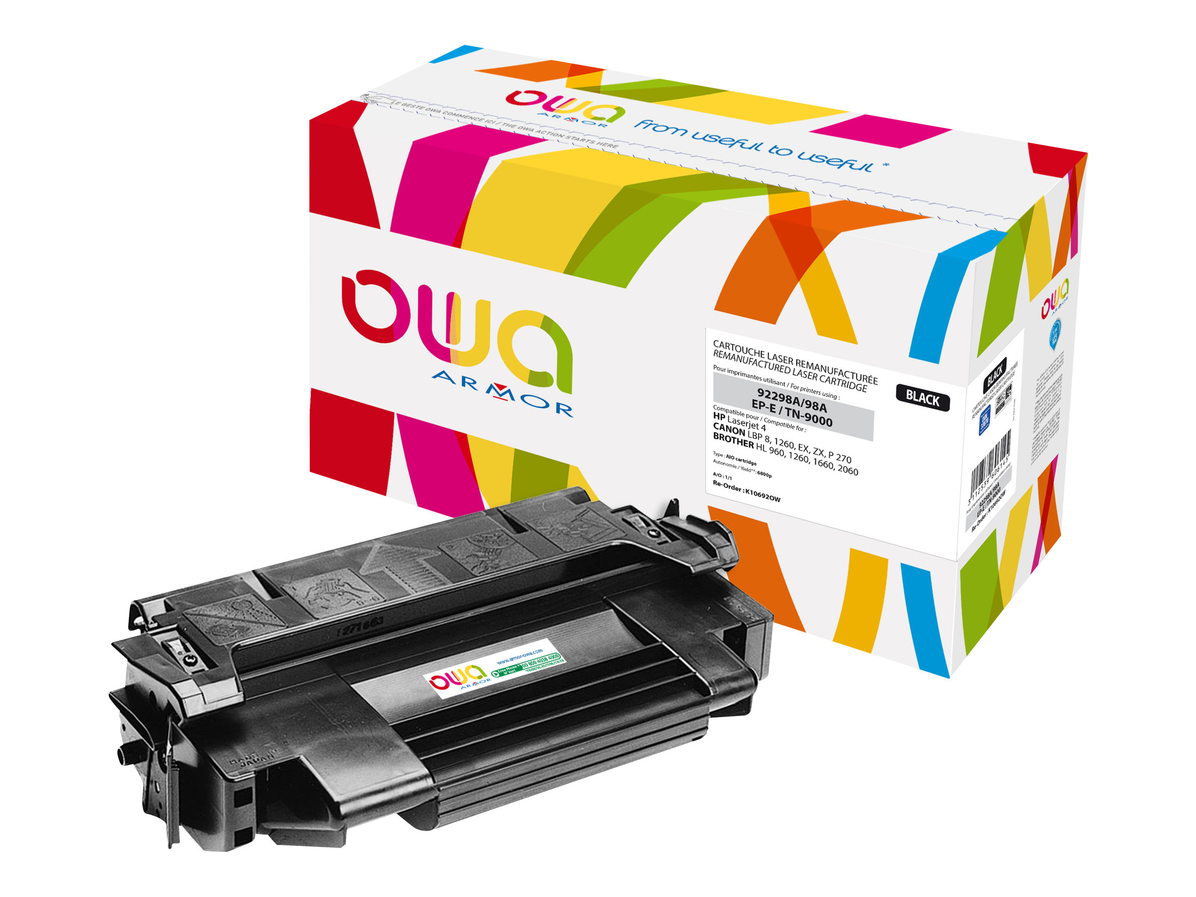 HP 92298A, Canon EP-E, Brother TN9000 - remanufacturé OWA K10692OW - noir - cartouche laser