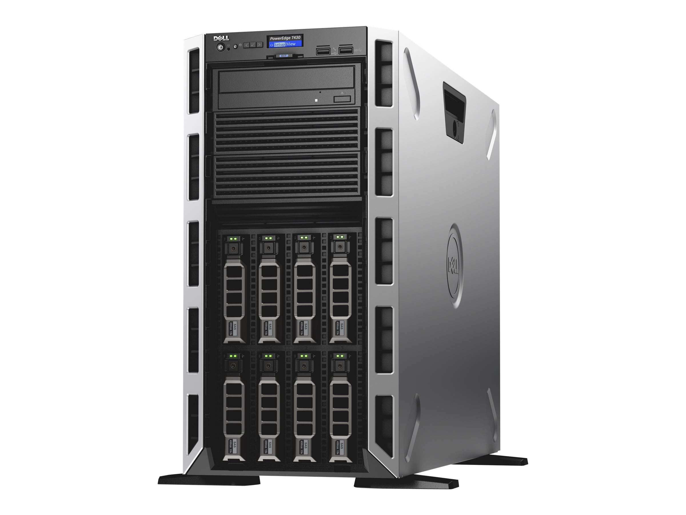 Dell PowerEdge T430 - Server - Tower - 5U - zweiweg - 1 x Xeon E5-2609V4 / 1.7 GHz