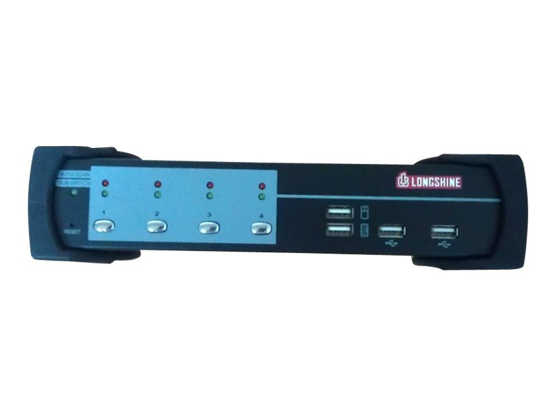 Longshine LCS-K704D - KVM-/Audio-/USB-Switch - USB - 4 x KVM/Audio/USB - 1 lokaler Benutzer - Desktop
