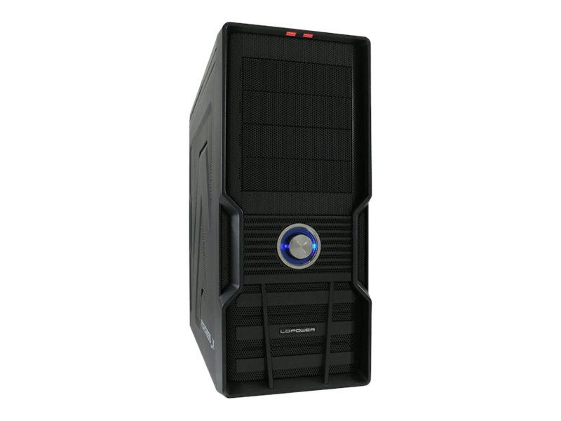 LC Power Gaming 973B Fortress_X - Midi Tower - ATX - ohne Netzteil - Schwarz - USB/Audio/Serial ATA