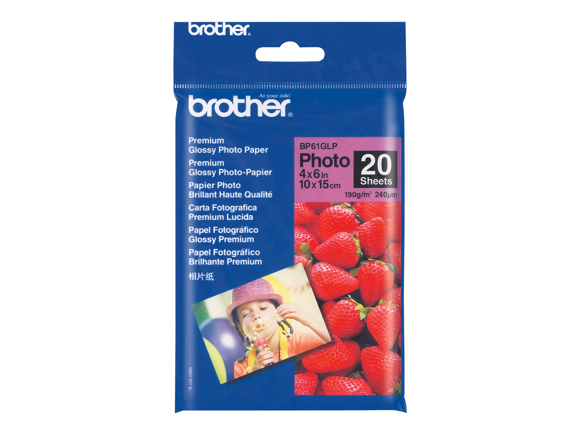 Brother BP 61GLP Premium Glossy Photo Paper - papier photo - 20 feuille(s)