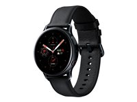 Samsung Galaxy Watch Active 2 - svart rostfritt stål - smart klocka med band - svart - 4 GB - inte specificerad