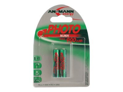 ANSMANN Energy Micro Photo - Batterie 2 x AAA-Typ NiMH 900 mAh