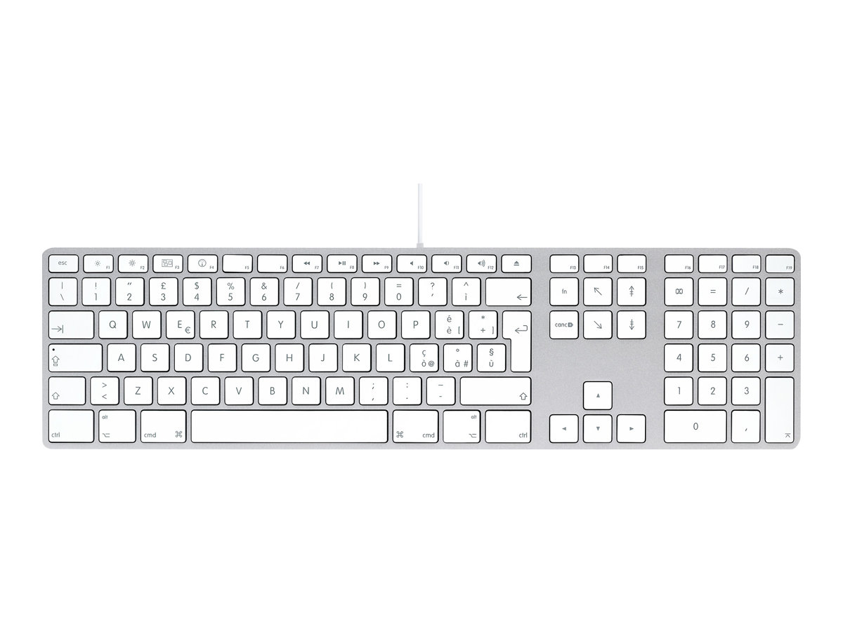 Apple Keyboard with Numeric Keypad - Tastatur - USB - Italienisch - für Mac mini; MacBook; MacBook Pro