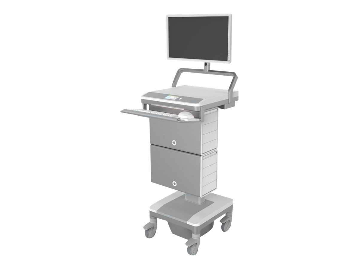 Humanscale TouchPoint Mobile Technology Cart T7 MedLink Powered Cart for PC with Auto Fit Technology, North American Po…