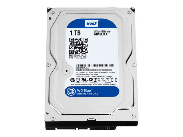 WD Blue WD10EZEX - Hard drive - 1 TB - internal - 3.5